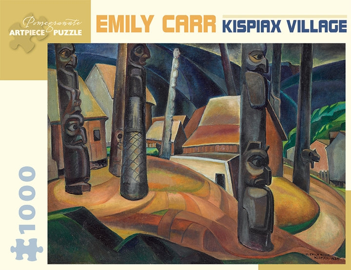 Emily Carr - Kispiax Villiage 1000 pc Pomegranate Puzzle
