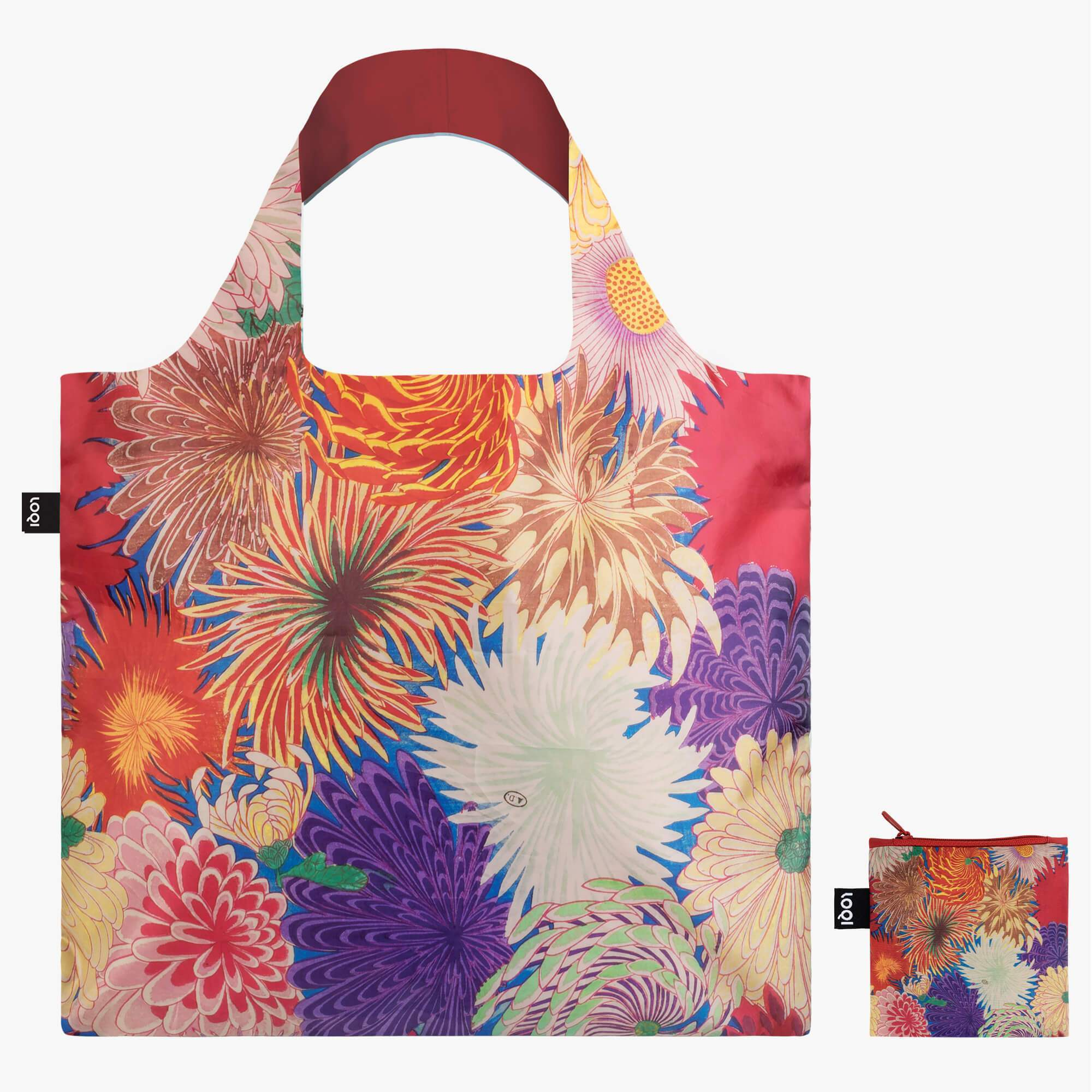 Loqi Shopping Bag - Japanese Chrysanthemums