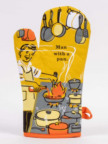 Blue Q Oven Mitt - Man With A Pan