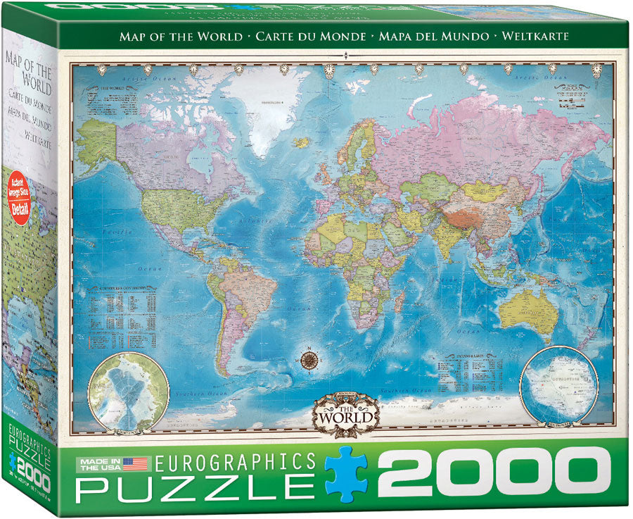 Map of the World - 2000 piece Eurographics