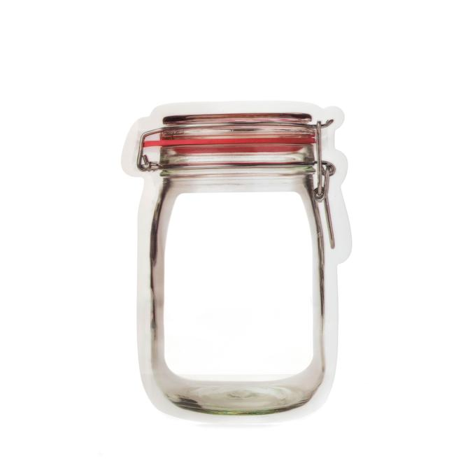 Mason Jar Zip Bags - Set of 3 Medium