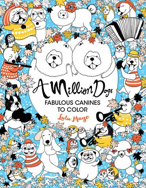 Colouring Book - A Million Dogs