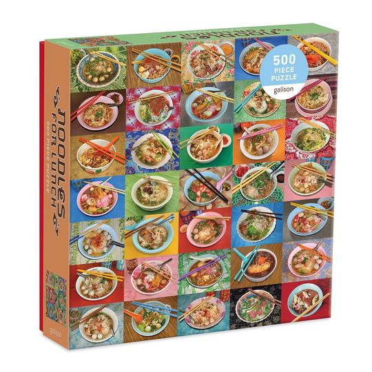 Galison - Noodles for Lunch 500 pc Puzzle