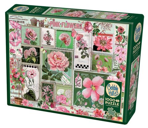 Pink Flowers 1000 piece Cobble Hill