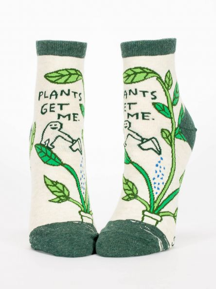 Blue Q Women's Ankle Socks - Plants Get Me