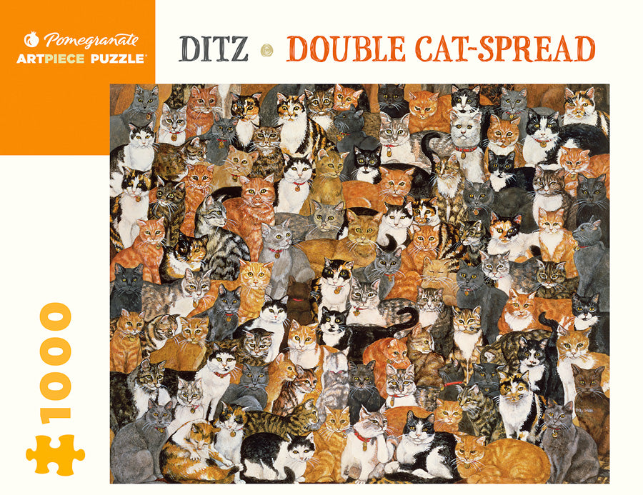 Double Cat-Spread 1000 pc Pomegranate Puzzle