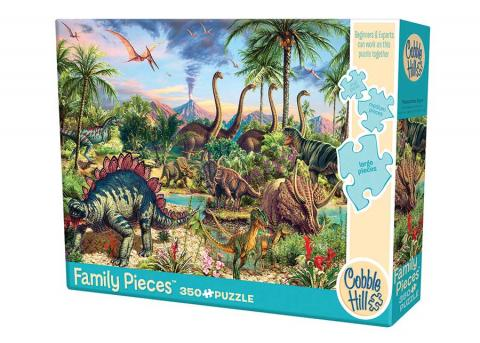 Prehistoric Party 350 piece - Family Puzzle