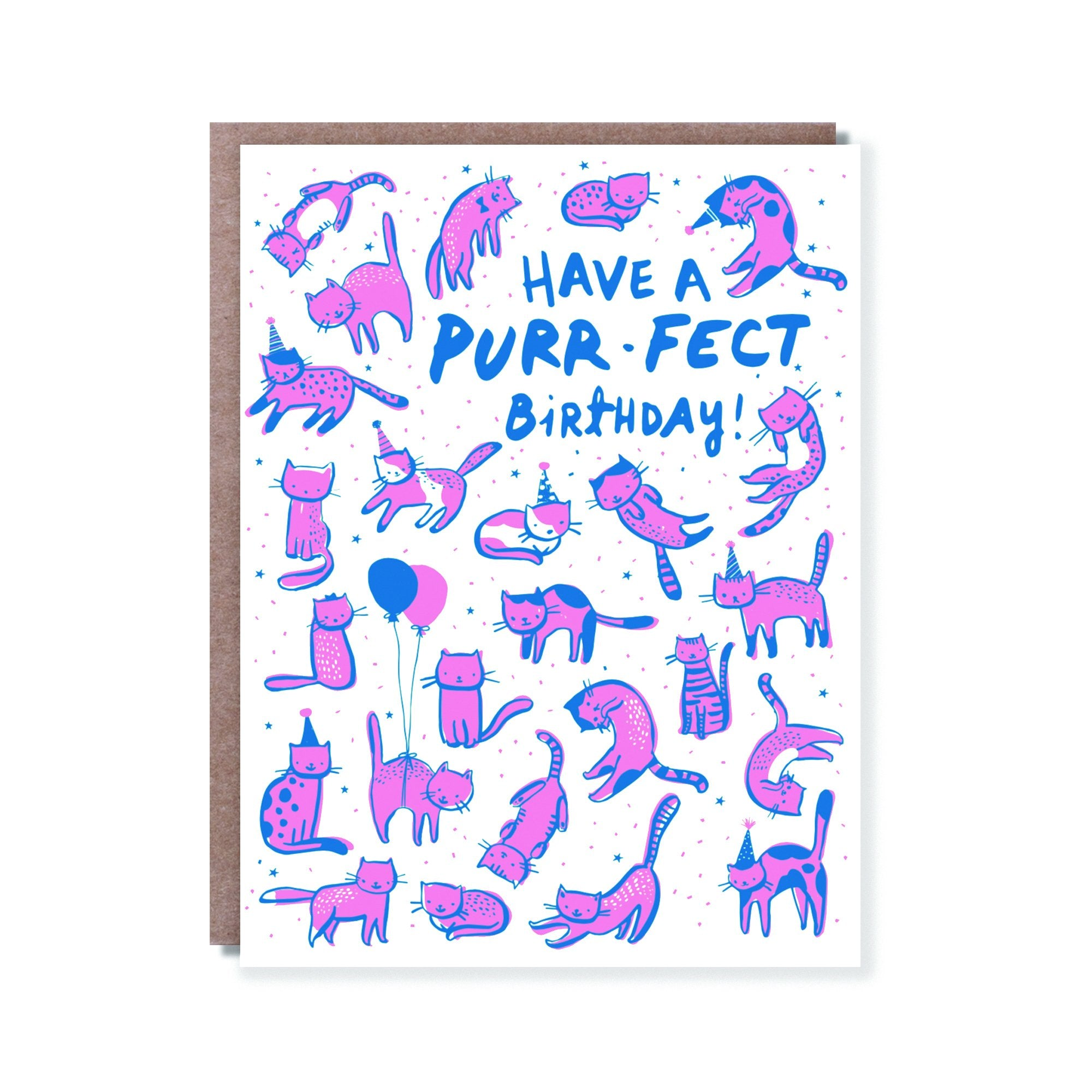Purr-Fect Birthday - Hello Lucky Birthday Card