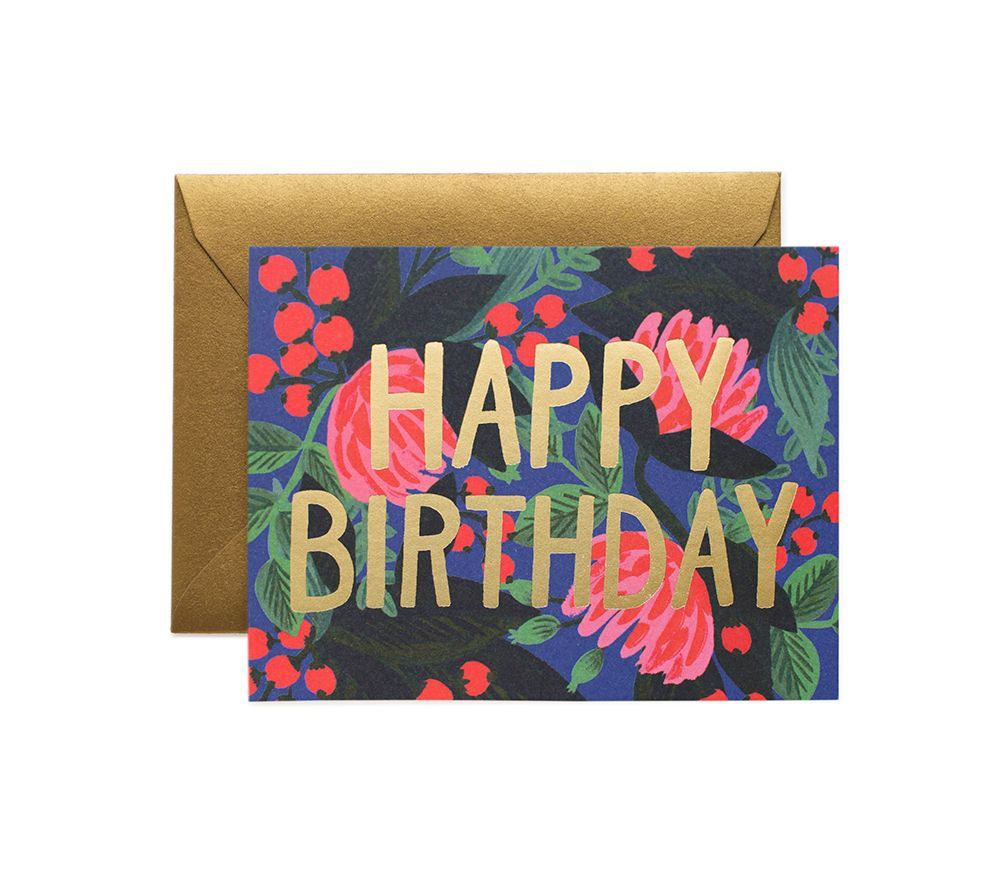 Red, Blue & Gold Birthday - Rifle Paper Birthday Card
