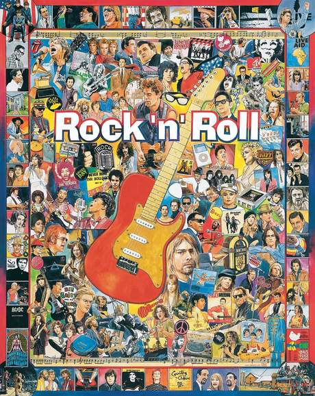 Rock 'n' Roll 1000 piece White Mountain Puzzle