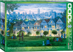 San Francisco, The Seven Sisters 1000 piece Eurographics