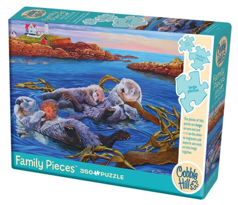 Sea Otter Family 350 piece - Family Puzzle