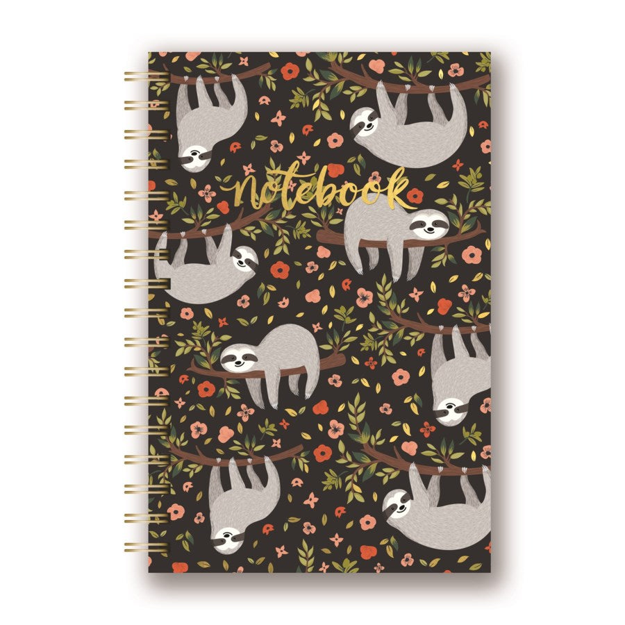 Sloth Life Spiral Notebook