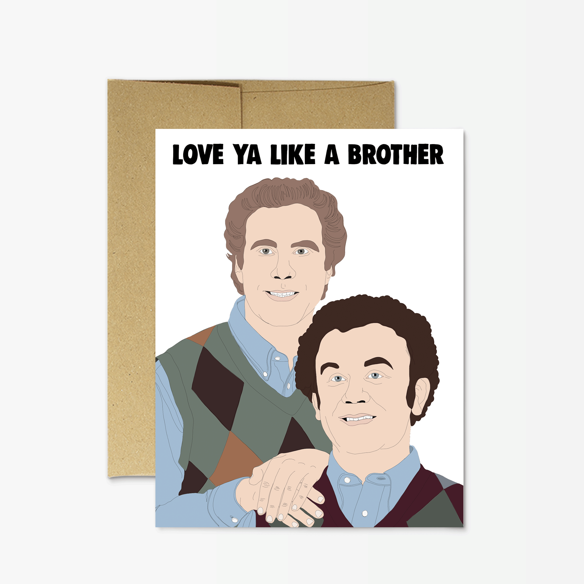 Love Ya Like A Brother - Party Mountain Card