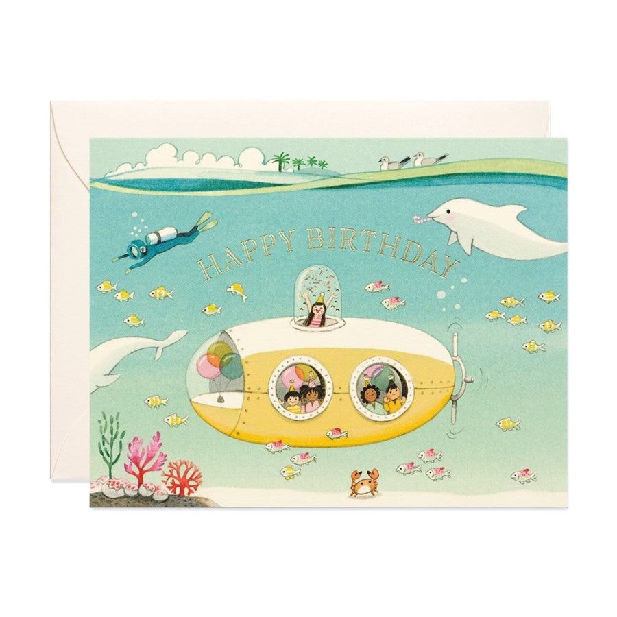 Submarine - JooJoo Paper Birthday Card