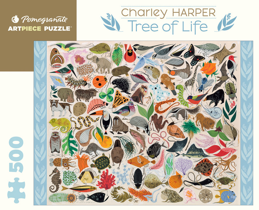 Charley Harper - Tree of Life 500 pc Pomegranate Puzzle