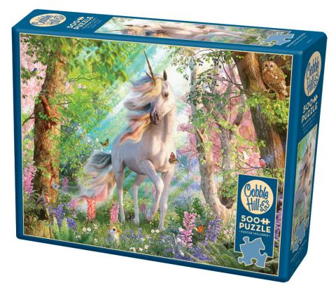 Unicorn in the Woods 500 piece Cobble Hill