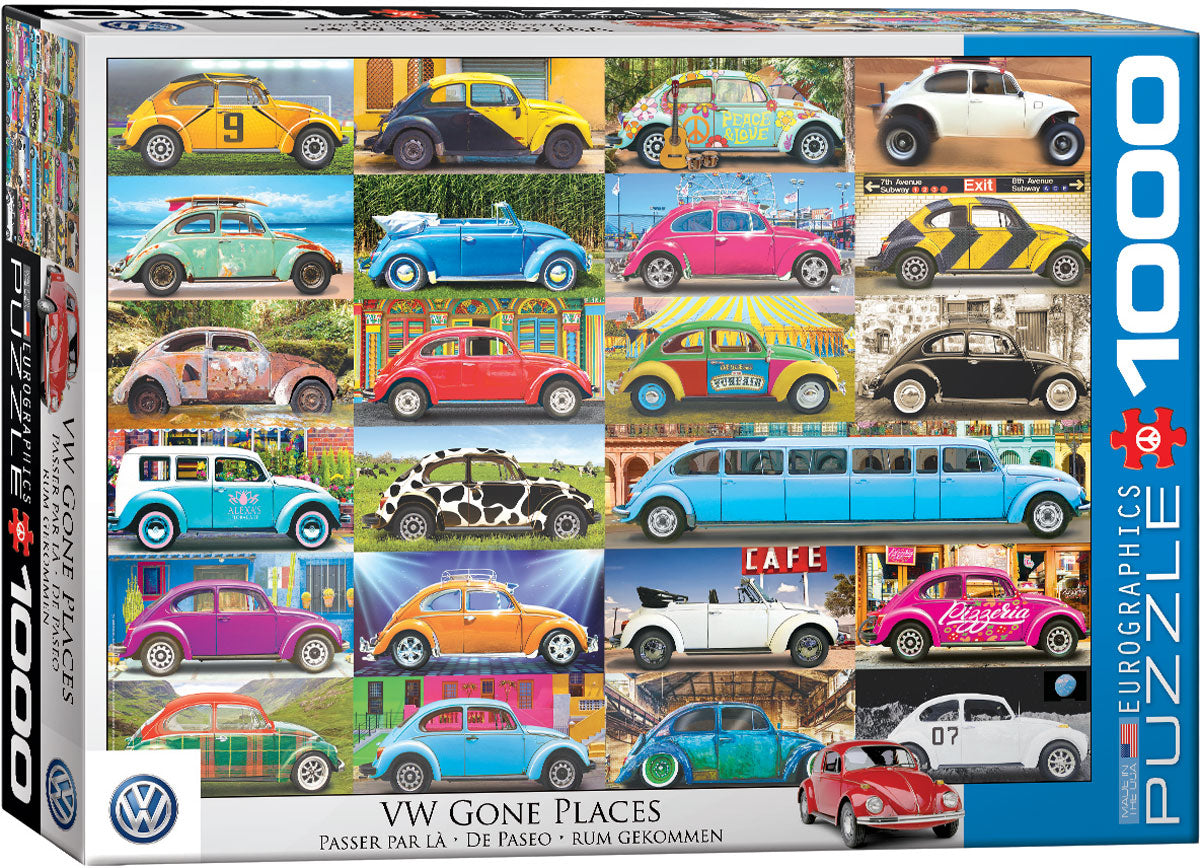 VW Beetle - Gone Places 1000 piece Eurographics