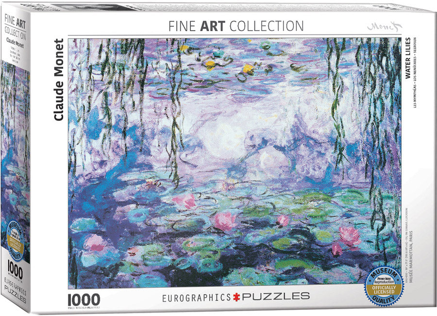 Waterlilies 1000 piece Eurographics