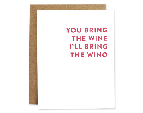 Wino - Rhubarb Paper Birthday Card