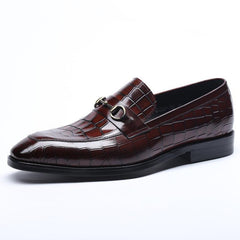 Crocodile Leather Business Dress Shoes