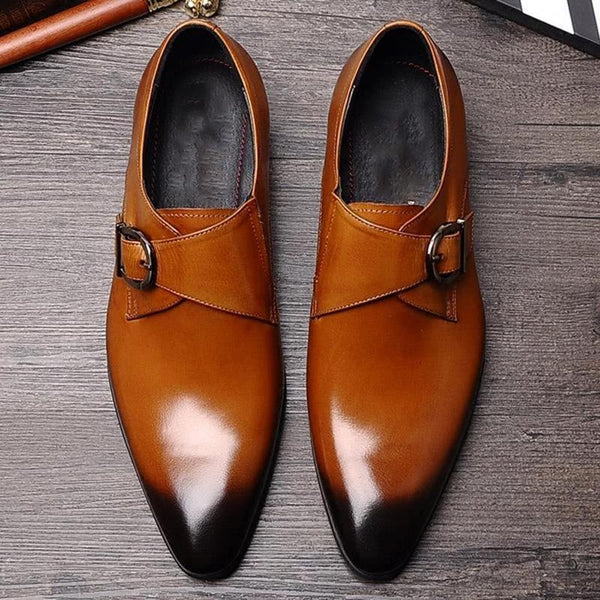 Formal Shoes-Men Handmade Leather Business Shoes