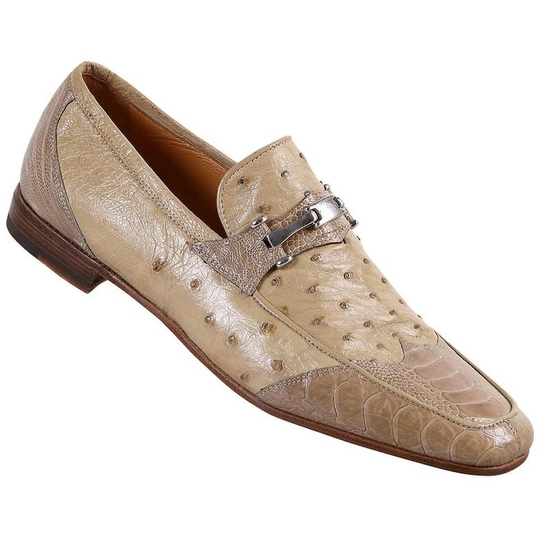 Men's 2020 New Design Ivory Color Leather Loafers