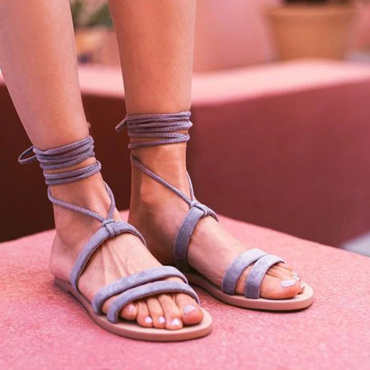 Women's Luxury Flat suede summer sandals