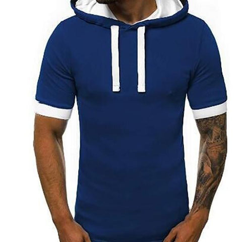 Men's Personality Hooded Pullover T-Shirt