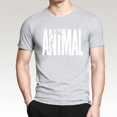 Men Fashion Letter Print Short Sleeve Casual T-Shirt