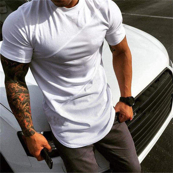 Men's Casual Breathable Stitching Short Sleeve T-Shirt