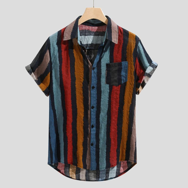 Men's Luxury Casual Stripe Collar Shirt