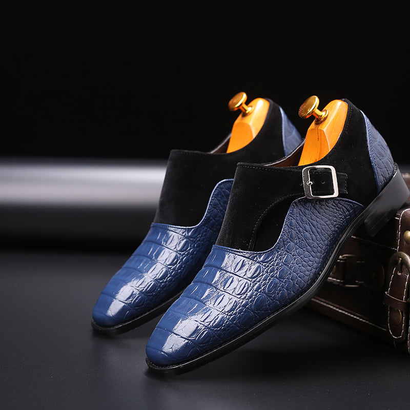 Men's luxury alligator buckle dress shoes