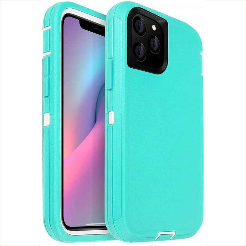 Rubber Hybrid Heavy Defend Shockproof Coverage Case For iPhone