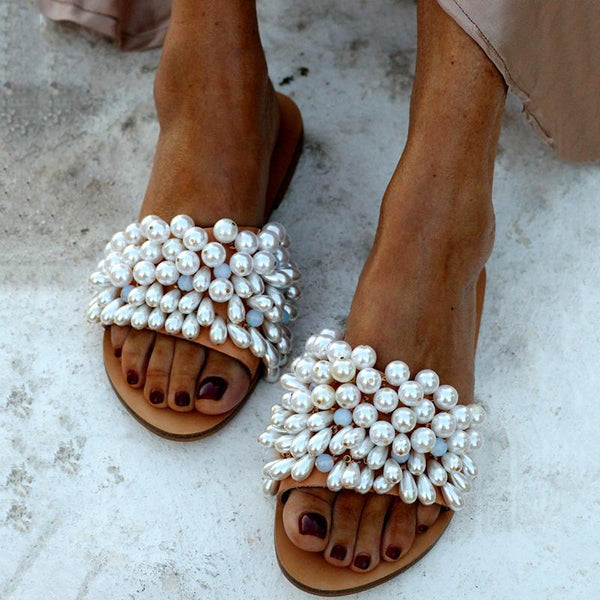 Women Fashion Pearl Luxury Wedding Sandals