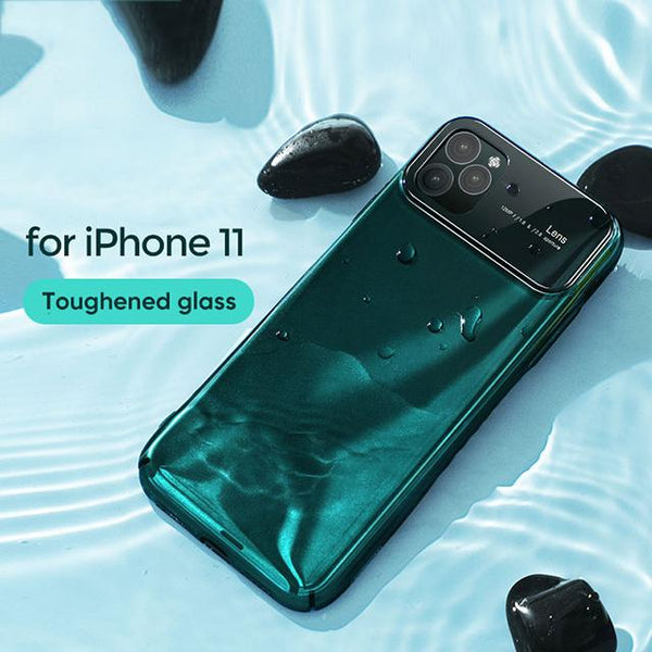 360 Protection Transparent Mirror Glass Bumper Case Cover For iPhone 11