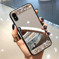 Luxury Diamond Mirror Phone Case For Samsung