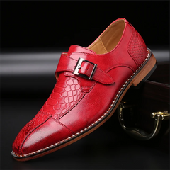 Fashion Men's Crocodile Leather Dress Shoes