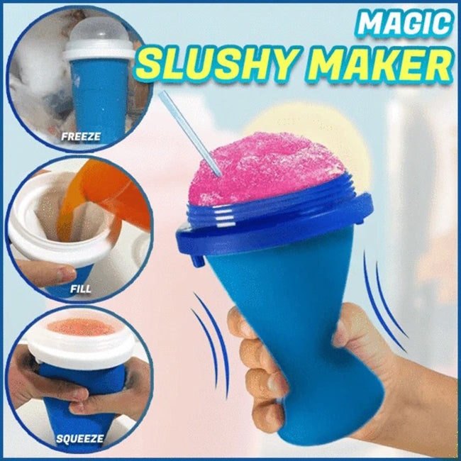 Summer self-made DIY smoothie cup of instant cold water cup