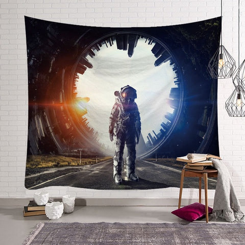 Polyester  Home Decor Astronaut Throw Tapestry