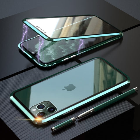 Luxury Shockproof Tempered Glass Cover For iPhone 11