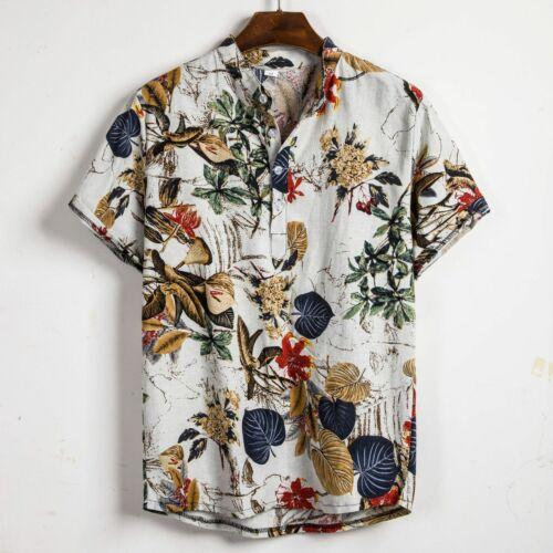 Men's Fashion Summer Floral Loose Baggy Casual Holiday Shirts