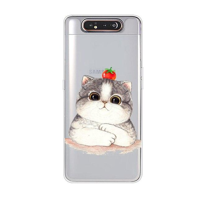 Samsung Galaxy A80 Case Silicone Soft TPU Back Cover