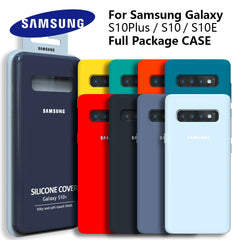 Original Soft-Touch Silicone Case for Galaxy S10 S10+S10E