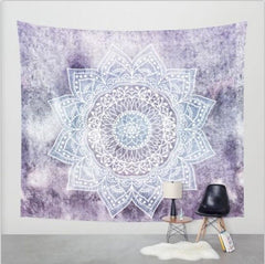 Polyester Wall Tapestry Home Living Decor Space Flower Beach Mat