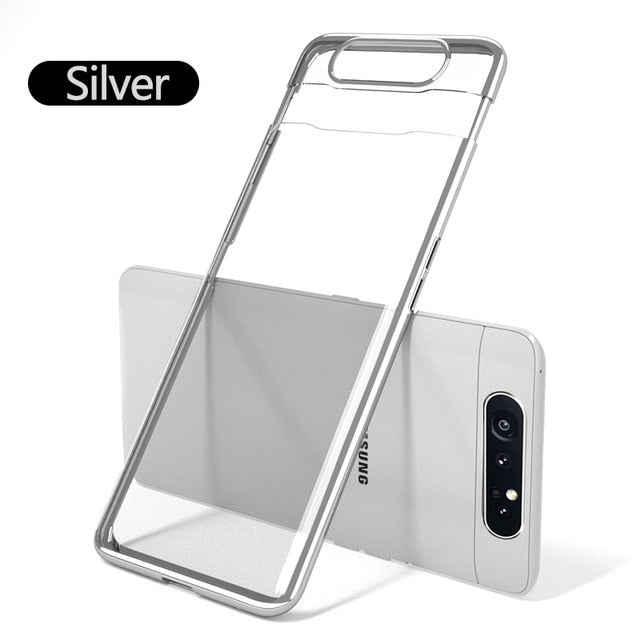 Luxury Transparent Plating Case For Samsung Galaxy A80