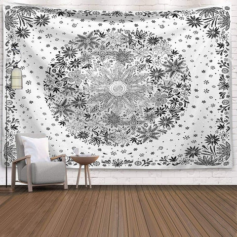 India Mandala Hanging Sun Moon Tarot Wall Tapestry