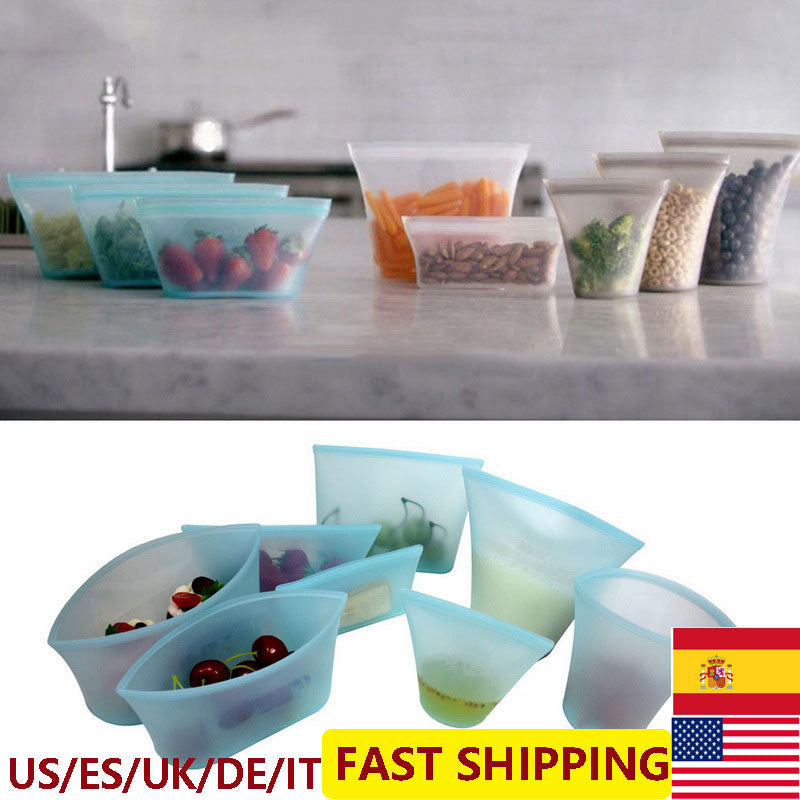 Silicone Food Storage Containers Leakproof Containers Reusable