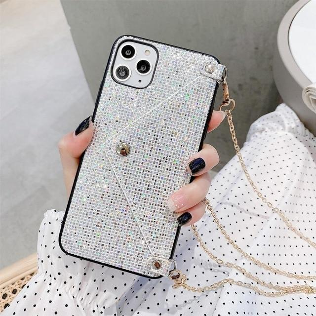 Glitter Shining Wallet Card Phone Case For iPhone