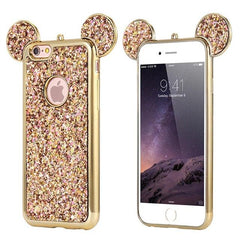 Cartoon  Case For Samsung Galaxy S6 S7Edge S8 S9 S10Plus Bling Glitter Cover